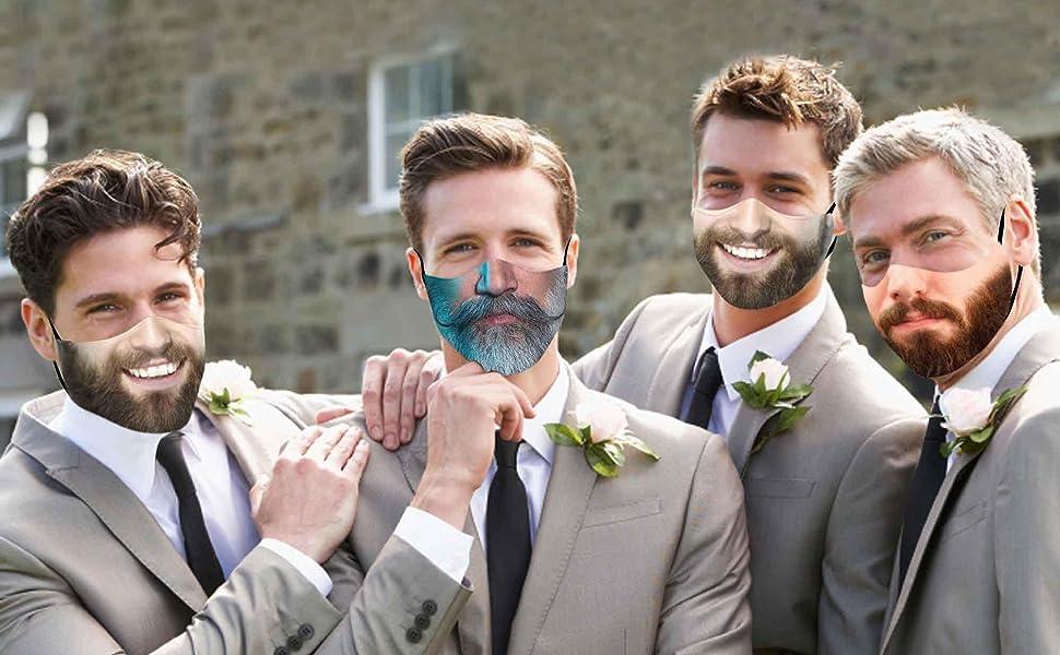 Beard Funny Face Mask For Men