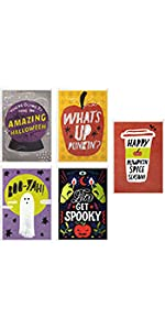 Cute Halloween greeting cards for adults, teens, friends and coworkers