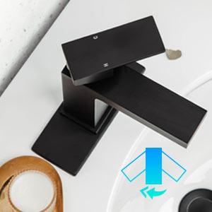 black bathroom faucet