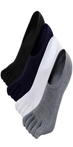 no show toe socks for men low cut socks five finger socks