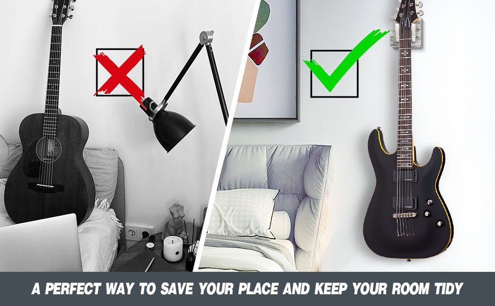 guitar wall mount make your room tidy