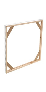 DIY Solid Art Stretchers Frame - Wooden Strips Bars Set for Paintings, Canvases amp;amp; Needlepoint