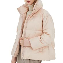 Light pink winter warm down jacket