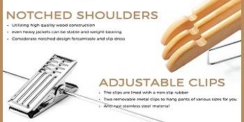 Notched Shoulders amp; Adjustable Clips