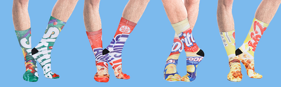crazy funny 3d print snacks package MEN socks