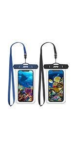 [2 Pack] Transparent Waterproof Pouch