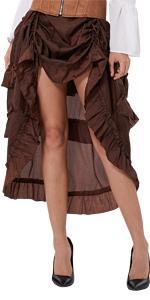 Steampunk High Low Skirt