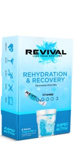 revival rapid action rehydration electrolytes powder packets