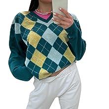 womens lake green sweater