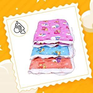 Fareto Newborn Baby Lacy Muslin Godari, Cradle Bed, Baby Bed (Multicolored)(0-6 Months) (Pack of 2)