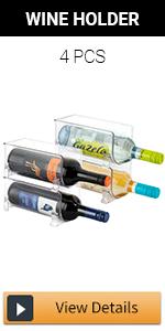 Stackable Wine Storage Rack - 4 pcs