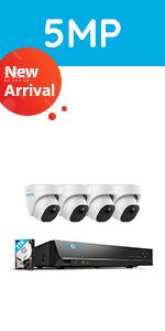 RLK8-520D4-A Security Camera System with Person/Vehicle Detection