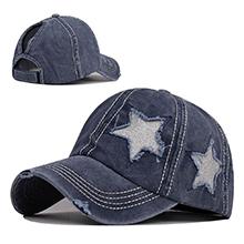 navy star hat