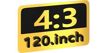 120 inch 4:3