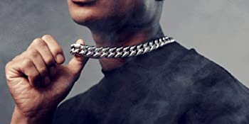 Chunky 316L Stainless Steel Curb Cuban Chain Necklace for Men Boys
