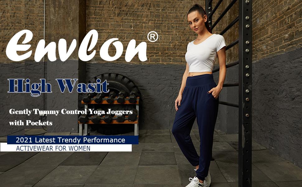 Envlon High Waist Tummy Control Joggers with Pockets 2021 Activewear