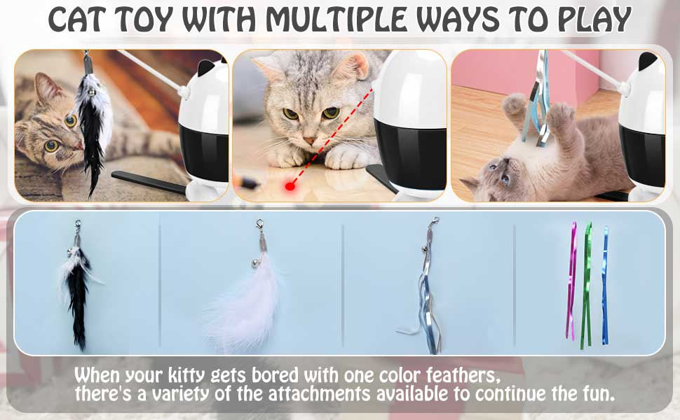 3.cat feather toys