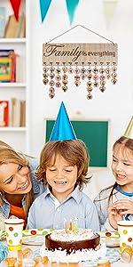 Joy-Leo Family Birthday Reminder Calendar Board - Model JL04