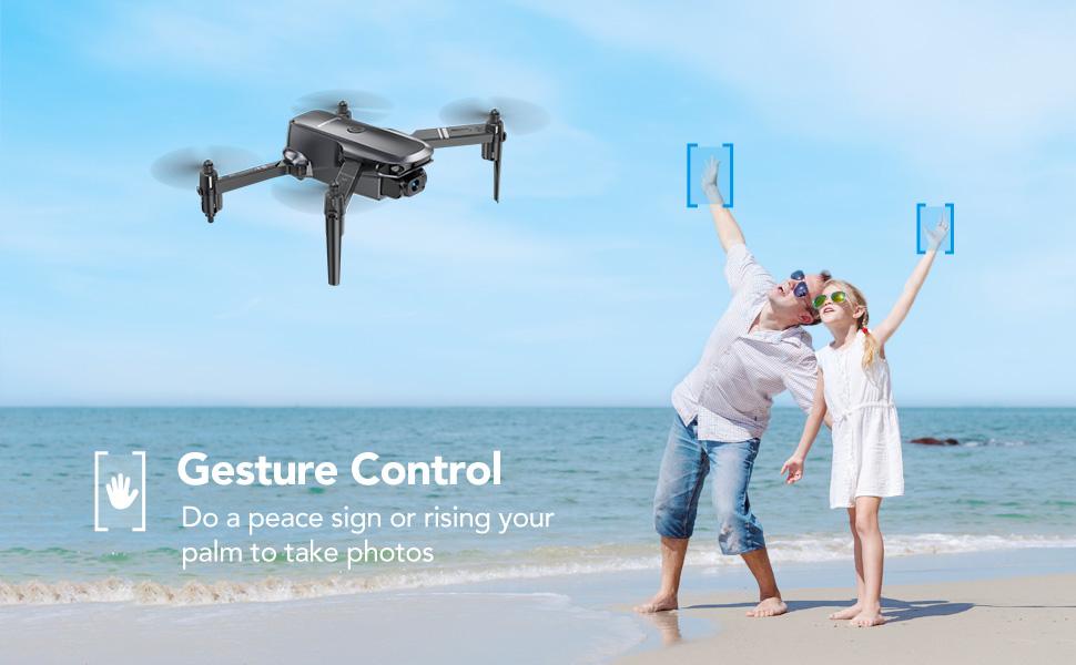 D15 mini drone gesture control