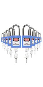 Padlocks Blue 2 keys