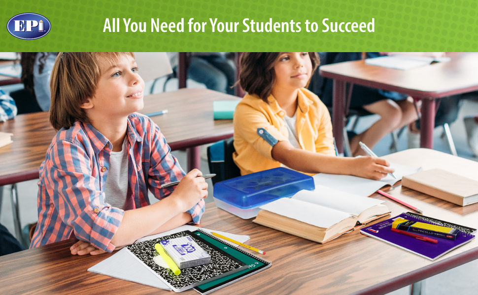 Epi school supply kits for second and third graders