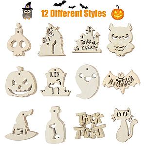 Halloween wooden ornaments