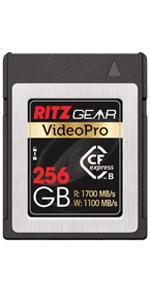 Ritz Gear Video Pro CFExpress 256GB Memory Card