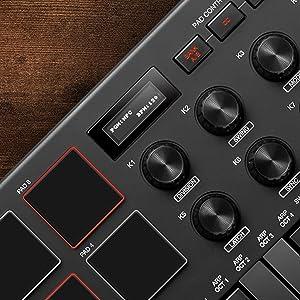 AKAI Professional MPK Mini MK3 - 25 Key USB MIDI Keyboard Controller With 8 Backlit Drum Pads