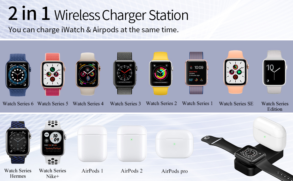 airpods 1 and watch charger