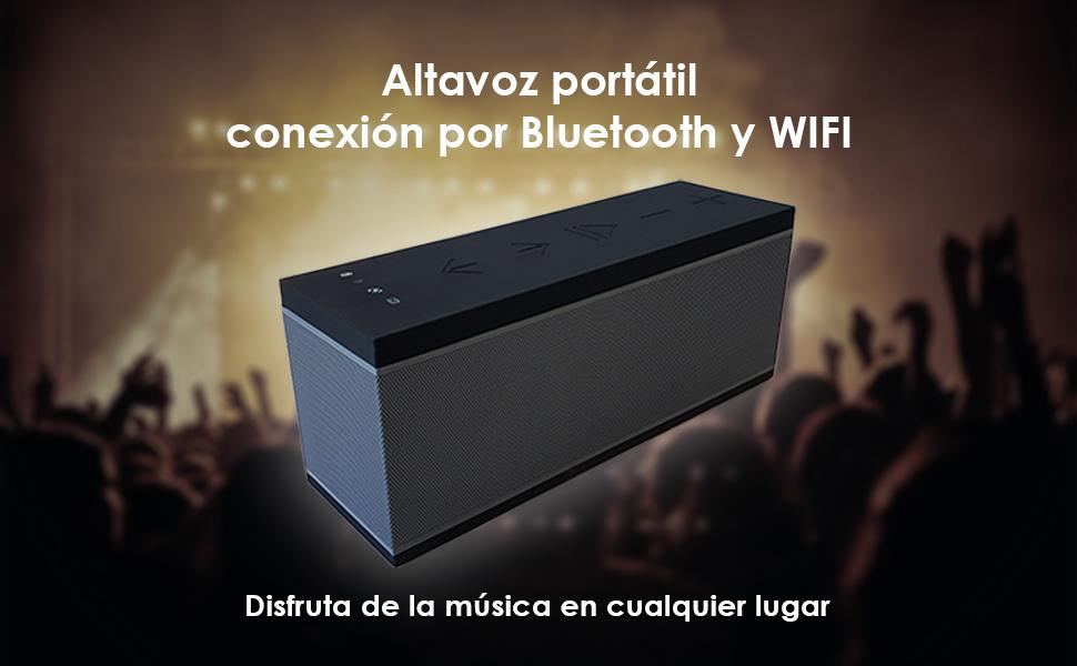 altavoz portátil, bluetooth, wifi, bsl-9pro