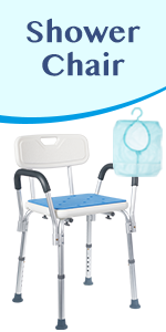 Shower Chair with Rails and free shower bag
