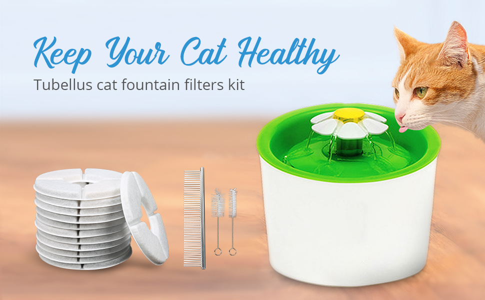 cat fountain filters kit