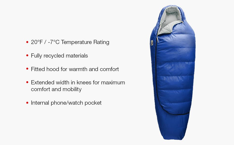 20f, cold weather sleeping bag, 20 sleeping bag, ultralight sleeping bag, adult sleeping bag