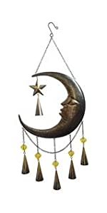Moon Face Wall Art Decoration, wind chime