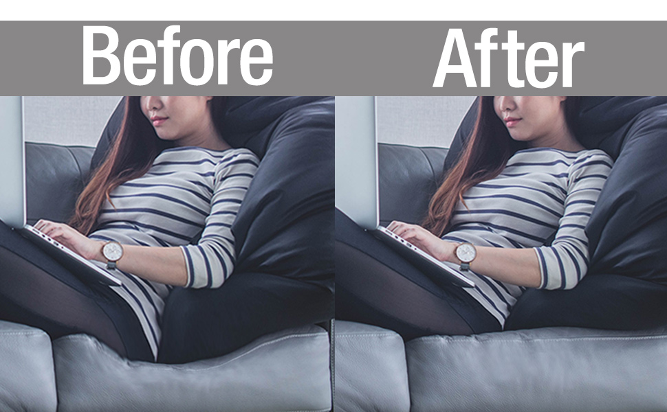 Sofa saver before and after