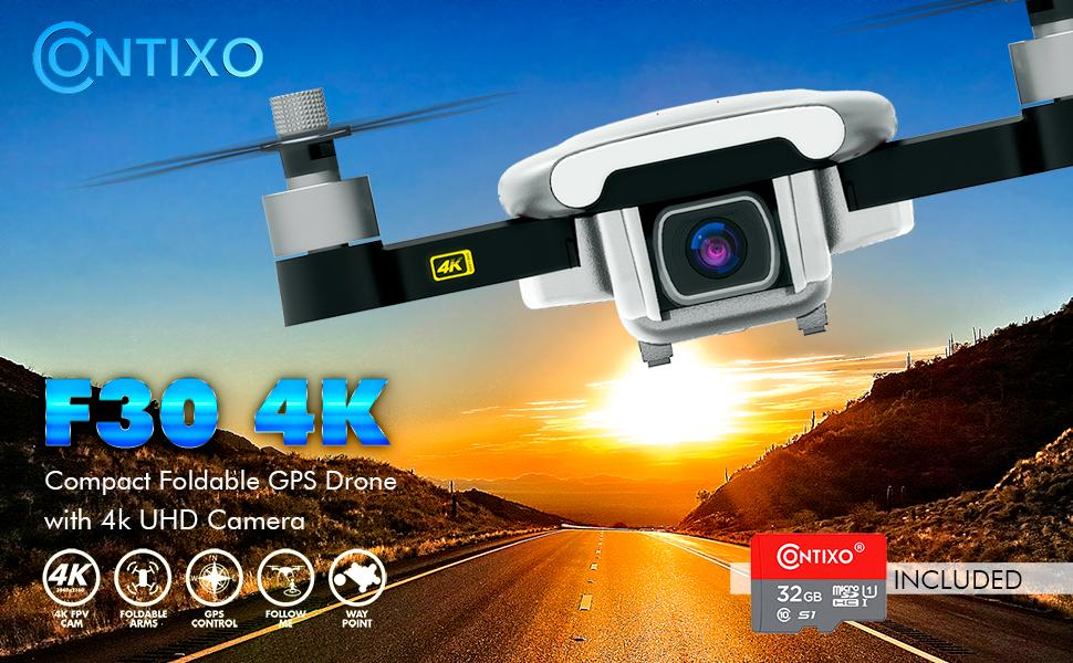Flashandfocus.com 5e52a84e-a0d4-47b8-9bd7-f099b9d3984b.__CR0,0,970,600_PT0_SX970_V1___ Contixo F30 Drone for Kids & Adults WiFi 4K UHD Camera and GPS, FPV Quadcopter for Beginners, Foldable mini drone…