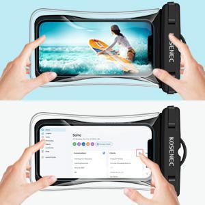 Sensitive Touch-screen waterproof bag IPX8 Waterproof Cellphone Case TPU transparent material
