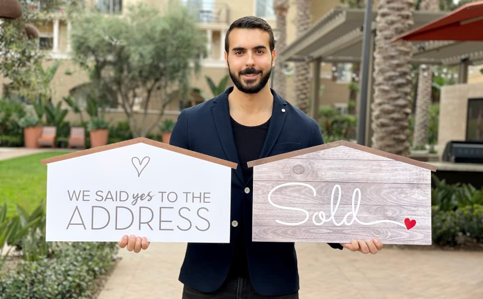 We Said Yes to The Address sign for home owner closing gift