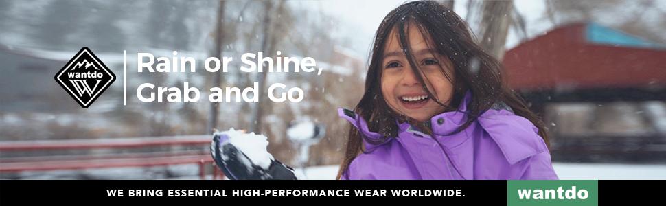Wantdo Girls' Puffer Jacket Winter Parka Coat