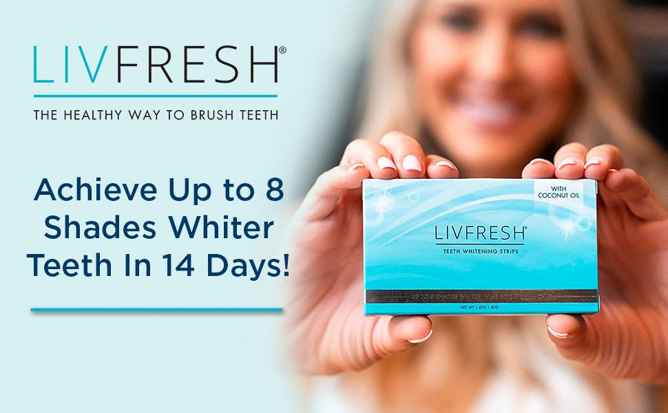 Achieve up to 8 shades whiter teeth in 14 days