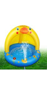 Inflatable Baby Pool with Canopy