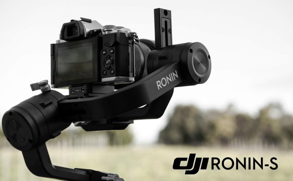 Camera shown mounted on DJI Ronin-S Gimbal Stabilizer