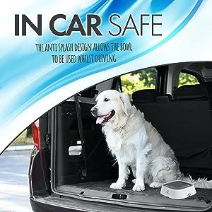 In car safe pet crate bowl
