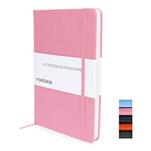 hardcover notebook ruled lined large journal pink cambridge