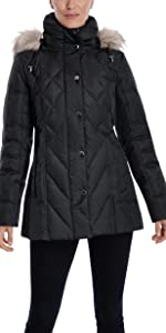 London Fog Quilted Puffer