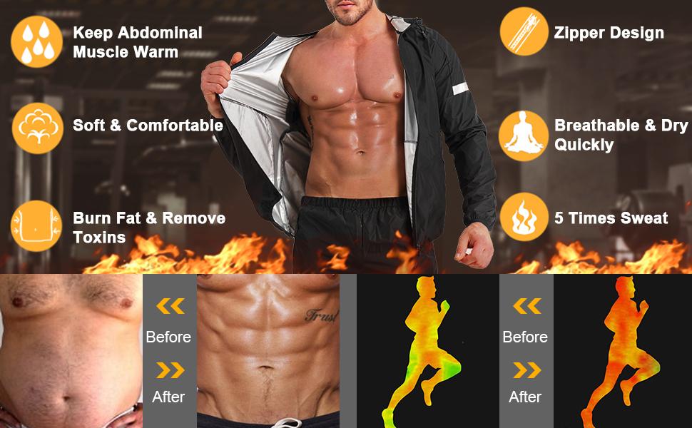 AGILONG Sauna Suit for Men