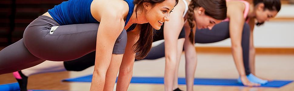 Women's High Waist Tummy Control Yoga Capris with Pockets