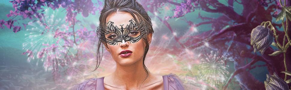 Regency woman in mask