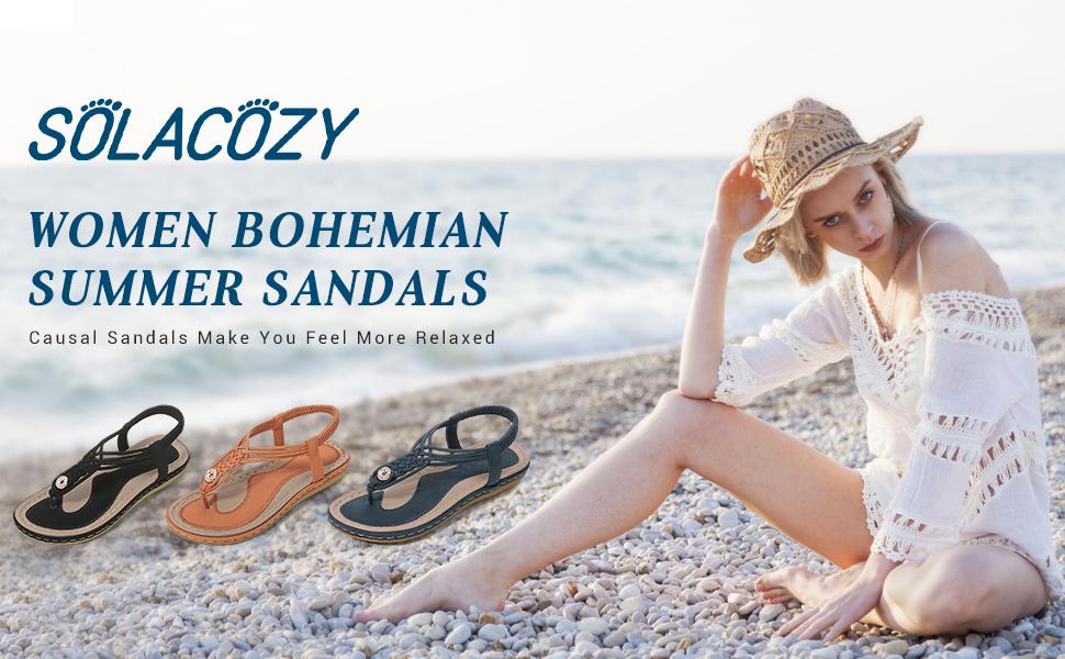 women Bohemian summer sandals