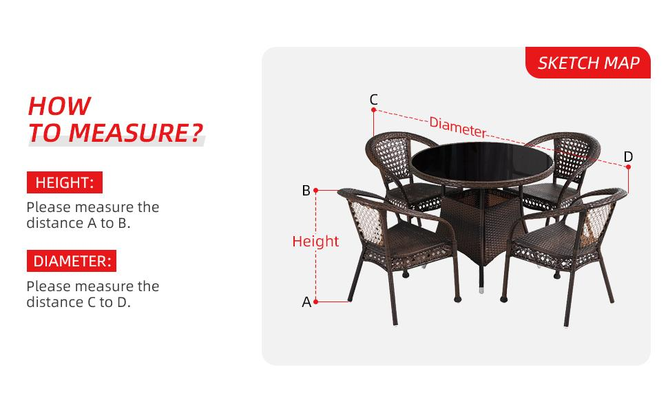 Measure of Umbrauto Outdoor Table Round Covers